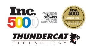 ThunderCat Technology Makes the Inc  5000 List 5 Years in a